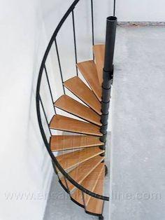 4 photo of 5 for escaleras medio caracol medidas Space Saving Staircase, Small Staircase, Loft Staircase, Spiral Staircase Plan, Spiral Staircases, Cottage Stairs, Tiny House Stairs, Spiral Stairs Design, Staircase Design
