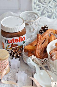 Bögrés Churros fánk Nutellával | Rupáner-konyha Churros, Spanish Food, Party Snacks, Nutella, Cupcake, Sweets, Cookies, Baking, Easy