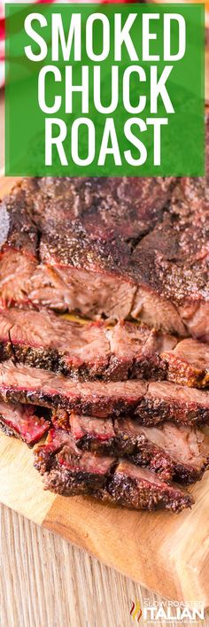 Smoked chuck roast is melt in your mouth delicious! Coat it in a simple dry rub and use your favorite wood pellets to infuse it with flavor. #SmokedChuckRoast #BeefRoast #Smoker Traeger Recipes, Grilling Recipes, Beef Recipes, Traeger Bbq, Smoked Beef Roast, Smoked Chuck Roast, Cookout Side Dishes, The Slow Roasted Italian, Smoking Recipes