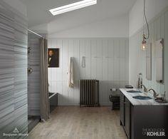 Nova Scotia Cool Toned Bathroom Kohler Whist And Thunder Grey Archer Bath Collaborationinfullcolor