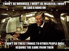 John Wayne: proof that you don't need a license, a law, or permission to tell stupid people how stupid they are. John Wayne Quotes, John Wayne Movies, Great Quotes, Quotes To Live By, Inspirational Quotes, Motivational, Movie Quotes, Life Quotes, Cowboy Quotes