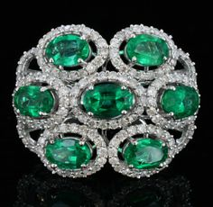 18K Gold, 2.80CT Emerald & 1.07CT Diamond Ring