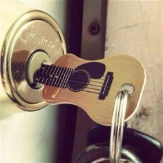 This key is, well, rockin'! Works in common Kwikset locks. Can be cut on most regular key machines.