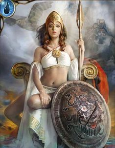 greek goddess athena tattoo - Google Search   Can someone please tell me what's up with her leg..... other than that, this one is gorgeous!