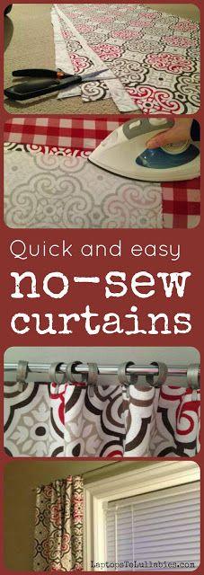 No-sew #curtains // Tutorial // LaptopsToLullabies.com