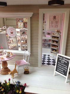 Dollhouse miniature cupcake bakery