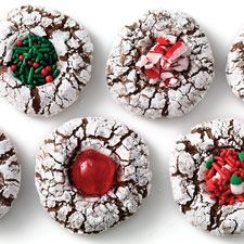 Chocolate Crinkles - These moist, dense chocolate cookies, with their snowy sugar coating, look stunning on any gift cookie plate.
