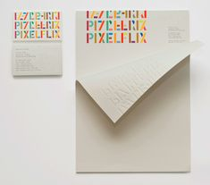 Pixelflix identity by A Friend of Mine, on Creative Journal: a showcase of inspiring design, art, architecture and photography. Typography Love, Graphic Design Typography, Lettering, Letterhead Paper, Letterhead Design, Graphic Design Inspiration, Creative Inspiration, Inspiration Typographie, Origami