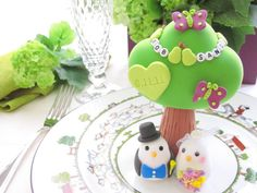 Love+birds+with+tree+wedding+cake+topper+by+kikuike+on+Etsy,+$200.00