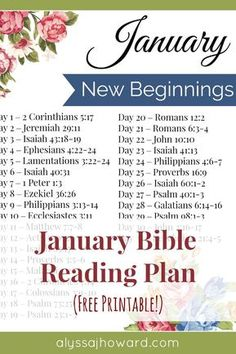 Our God is in the business of giving us a new beginning... one that will endure not by our own strength, but by the power of the Holy Spirit. Be sure to check out this month's Bible reading plan all about our new beginnings in Christ! #BibleReadingPlan #NewBeginning #January