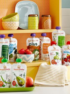Happy Baby offers organic food for every stage, from baby to toddler.