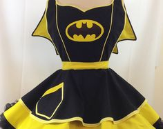 Bat girl Apron. SassyFrasCollection on Etsy