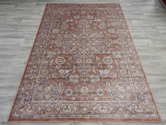 Viscose Silk Antique Faded Look Traditional Oriental Rug Size: 160 x 230cm