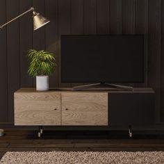 tv sideboard im nordischen design eiche schwarz