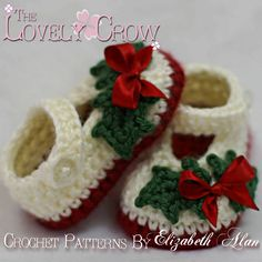 "Ravelry: Booties ""Baby Holly Shoes"" pattern by Elizabeth Alan"