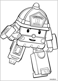 27 Best Robocar Poli Party Images Robocar Poli Coloring Books