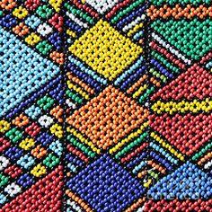 Ndebele Framed Prints - African Beadwork 2 Framed Print by Neil Overy African Beads, African Jewelry, Tribal Patterns, Beading Patterns, Tribal Prints, African Design, African Art, Kitenge, Xhosa
