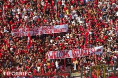 #refugeeswelcome in Perugia, Umbria, Italy team: A.C. Perugia Calcio