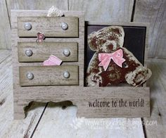 Stamp & Scrap with Frenchie: Baby Dresser how to Video