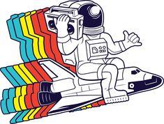 funky astronaut | Sticker
