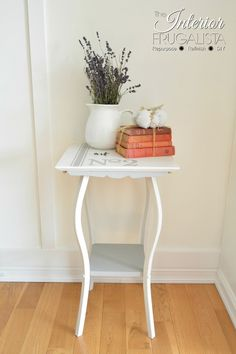 How I redeemed a small Antique French Tea Table with Dixie Bell Paint.