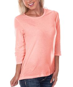 Look at this #zulilyfind! Kavio! Flamingo Crewneck Tee - Women by Kavio! #zulilyfinds