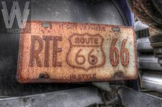 ROUTE 66-MISSOURI-An old rusty Route 66 license plate on a 1939 GMC oil truck welcomes Route 66 travelers to the restored Gay Parita Sinclair Gas service station in Paris Springs, MO. The original gas station built in 1930, burned down in 1955. The station was rebuilt by its current owner, Gary Turner. Photo by Colin E Braley