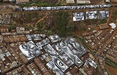 In this Kenyan slum, photographs were printed on waterproof vinyl and doubled up as makeshift roofs.