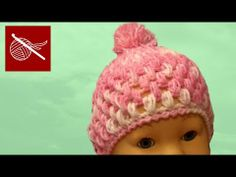 How to make Baby Puffs Stitch Crochet Hat:  Free pattern and video tutorial...