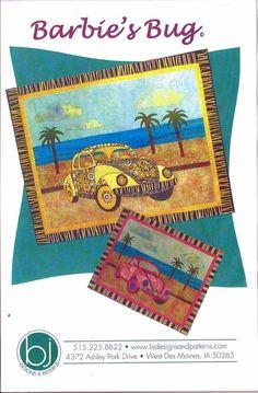 Volkswagen Beetle Bug Fun Quilt Patchwork Applique Full Size Pattern Sewing Art #BarbaraJones