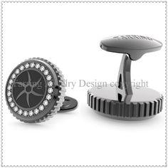 Fantastic custom cufflinks with shiny crystals -CF1418B