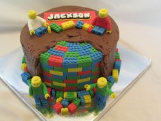 Post with 0 votes and 12528 views. My First Attempt at a LEGO Cake Bolo Lego, Lego Cake, Chocolate Lego, Chocolate Lovers, Birthday Cake, Sweets, Baking, Desserts, Internet
