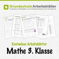 Kostenlose Arbeitsblätter und Unterrichtsmaterial für den Mathe-Unterricht in der 3. Klasse in der Grundschule.