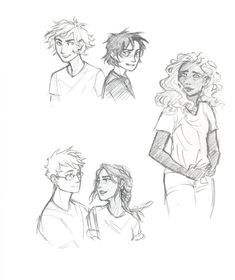 The Heroes of Olympus by drakonarinka || Will Solace, Nico di Angelo, Hazel Levesque, Jason Grace, Piper McLean