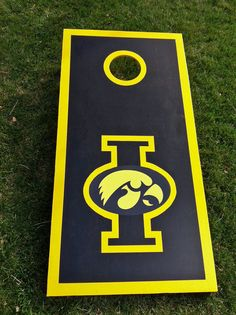 Iowa Hawkeyes or your team custom Corn Hole Boards (Custom NCAA, NFL and more) -- great gifts, fun game at tailgates or parties