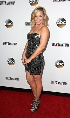 Jessica Capshaw at the 'Grey's Anatomy' 200th episode party - Brian To/WENN.com