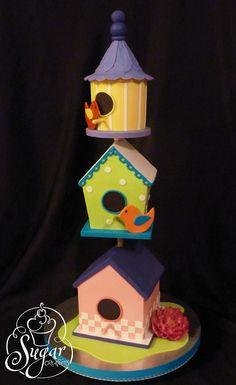 Larkin's birdhouse cake | by RebeccaSutterby