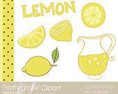 Lovely lemon Digital Clipart for scrapbooking & design - PGCLPK304