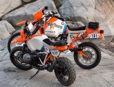 BMW Concept Lac Rose and BMW R80GS Paris Dakar #bmwconceptlacrose…