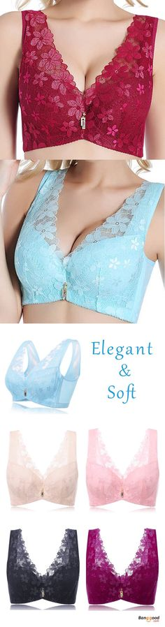 US$9.6 + Free shipping. Lace Embroidery, Sexy/Push Up/Deep V, No Rims, Full Cup, Fixed Straps, 4×4 Hook-and-eye. Colors:Black,Wine Red,Blue,Pink,Apricot. Size:C Cup,36-44 Underbust. Buy now!