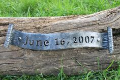 Personalized Iron Anniversary Ribbon  6th Wedding Anniversary Great Gift  by toughandtwisted, $78.00
