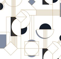 rappelez-vous l - Logos Abstract Geometric Art, Geometric Designs, Abstract Pattern, Geometric Shapes, Motif Art Deco, Art Deco Design, Art Nouveau, Illustrator, Vintage Design