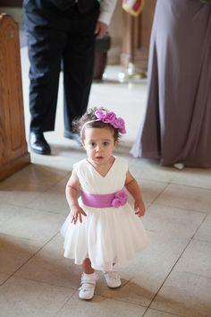Ivory Chiffon Flower Girl Dress with Plum/Purple/Pink Sash Flower Baby Girl dress for Wedding on Etsy, $40.99 Diy Wedding Dress, Our Wedding, Plum Purple, Pink, Wedding Inspiration, Wedding Ideas, Chiffon Flowers, The Most Beautiful Girl, Sash