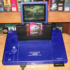 Custom Neo-Geo AES with portable LCD screen - Cool! Playstation, Neo Geo, Vintage Games, Games Consoles, Arcade, Videogames, Gadgets, Gaming, Geek Stuff