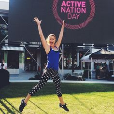 Jumping for joy for Active Nation Day