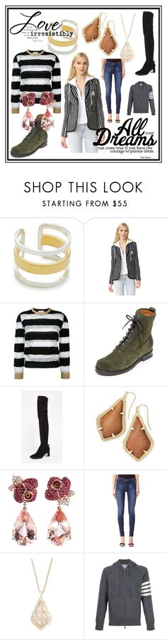 """fashion dreams"" by kristeen9 ❤ liked on Polyvore featuring Maya Magal, Veronica Beard, Gucci, Frye, Tory Burch, Kendra Scott, Anyallerie, Joe's Jeans and Thom Browne"