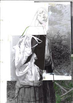 Fashion Sketchbook - fashion drawing; creative fashion collage; fashion portfolio // Irina Tsoy