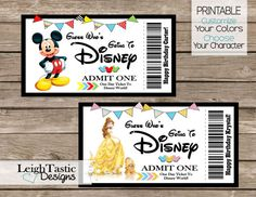 image relating to Disney World Printable Tickets named 22 Excellent Disney - Tickets illustrations or photos Classic disneyland