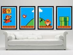 Super Mario Bros Poster Set
