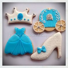 Cinderella cookies!! Galletas de Cenicienta!!